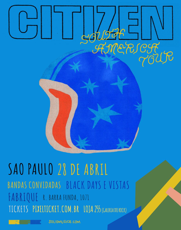 SORTEIO: Ingresso para o show do Citizen em São Paulo