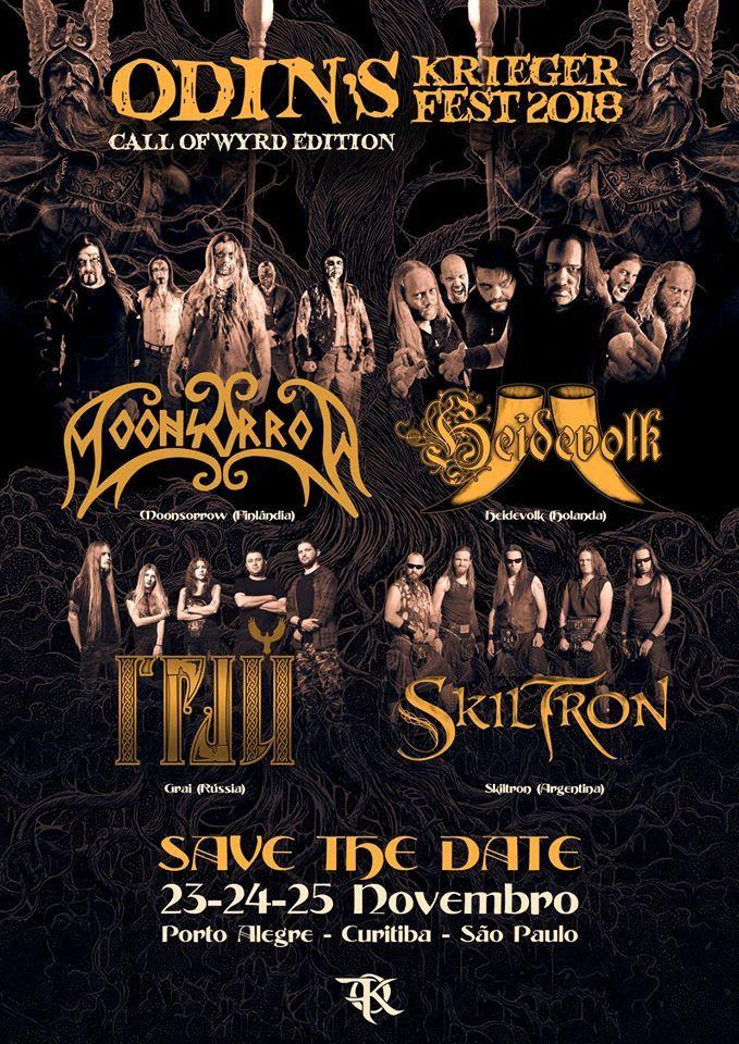 Odin's Krieger Fest retorna em novembro com 4 atrações internacionais